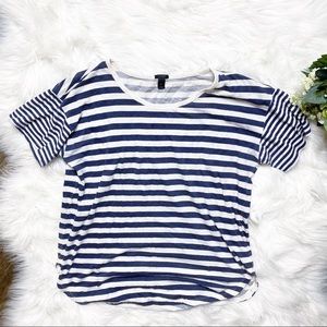 • J. Crew Mixed-stripe Vintage Cotton T-Shirt •